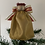 Thumbnail: Tree-topper Angels - Gold Satin & Red