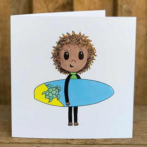 Turtle Surfer Card