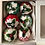 Thumbnail: Set of 6 Patterned Christmas pudding decorations