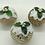 Thumbnail: Set of 3 Metallic light Gold Christmas pudding decorations