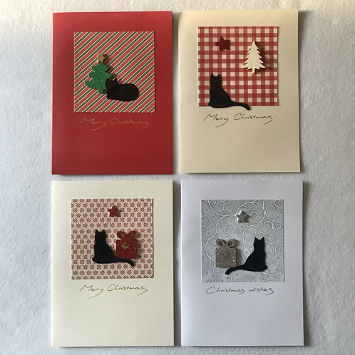 Handmade cards....Cats/presents
