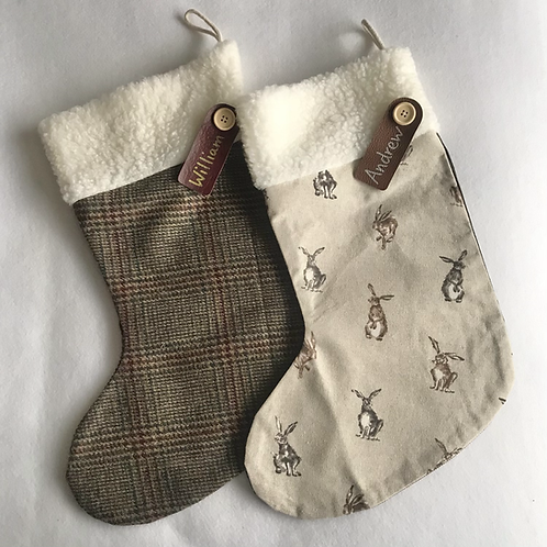 Hare & Tweed Personalised stockings