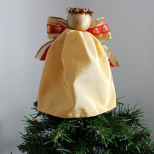 Tree-topper Angels - Light Gold & Red
