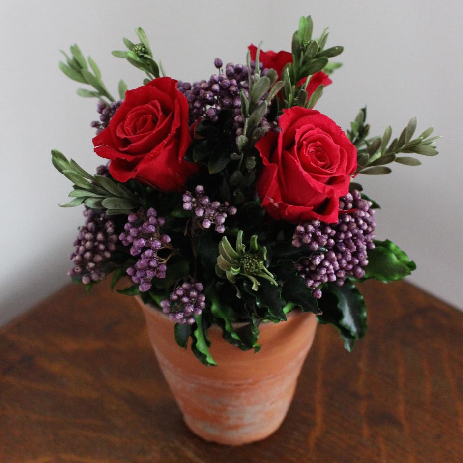 Raspberry red/purple terracotta