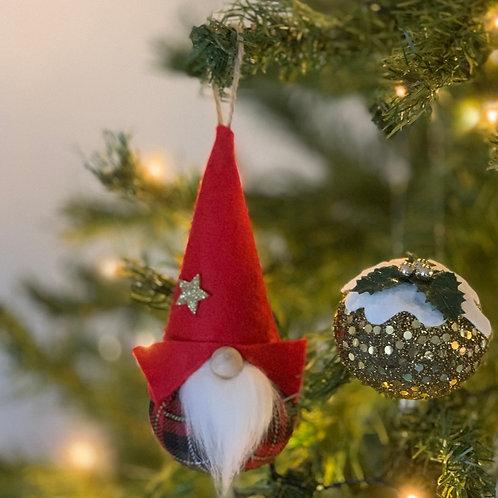Red/grey/black tartan & Bright Gold christmas duo.