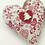 Thumbnail: Personalised Red & Grey patterned Hearts