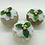 Thumbnail: Set of 3 Plain antique Gold Christmas pudding decorations