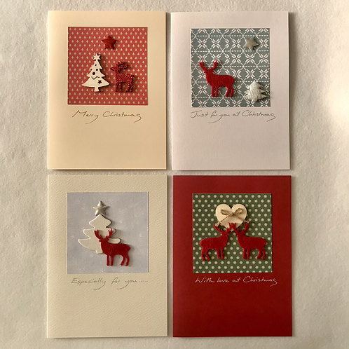Handmade Christmas cards....Stags/reindeer