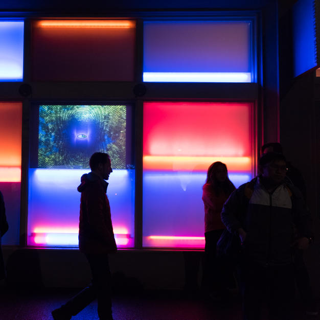 Dan Flavin at Elizabeth Leach. Photo: Rachel Konsella