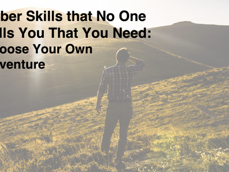Cyber Skills that No One Tells You That You Need: Choose Your Own Adventure