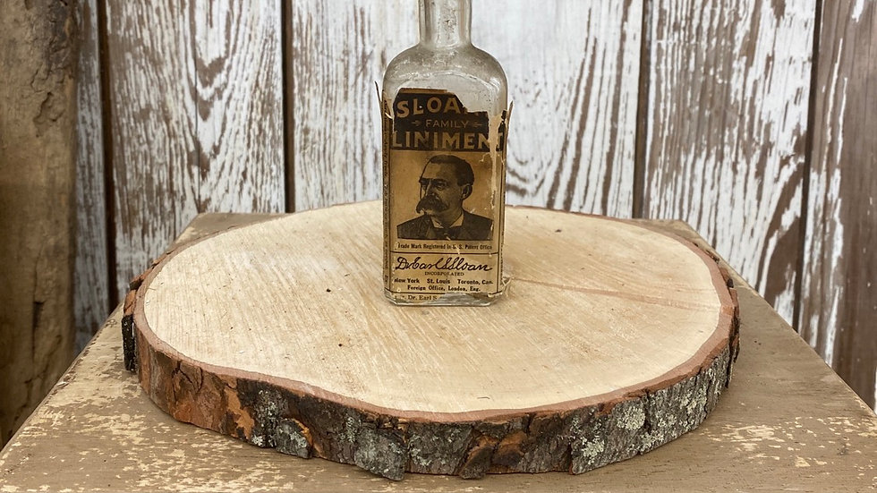 Antique Vintage Sloan Family Liniment Bottle