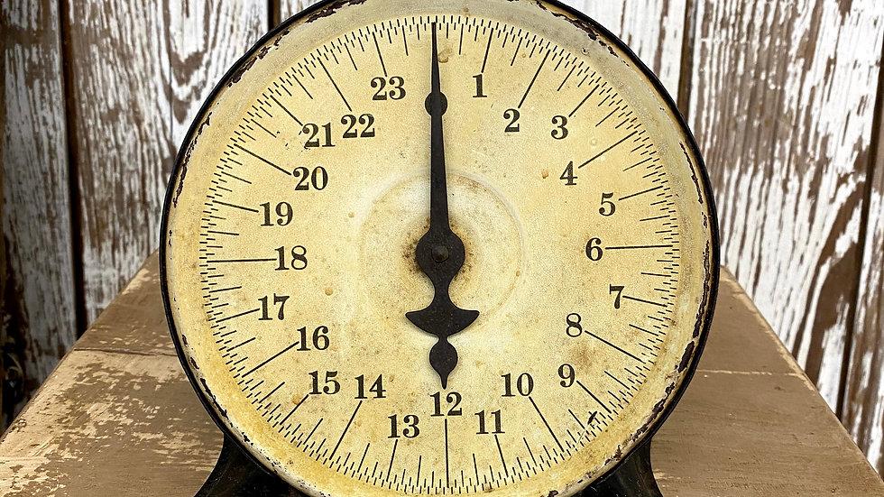 """Vintage Antique Black Scale - """"Perfection Original Slanting Dial Scale"""""""