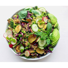 jarní zelený salát