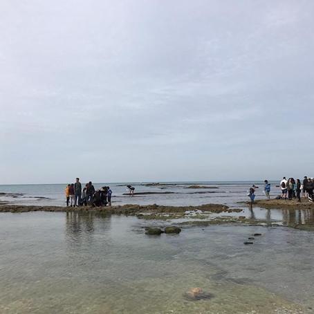 תלמידי מגמת גיאוגרפיה בסיור לימודי במכון לחקר ימי