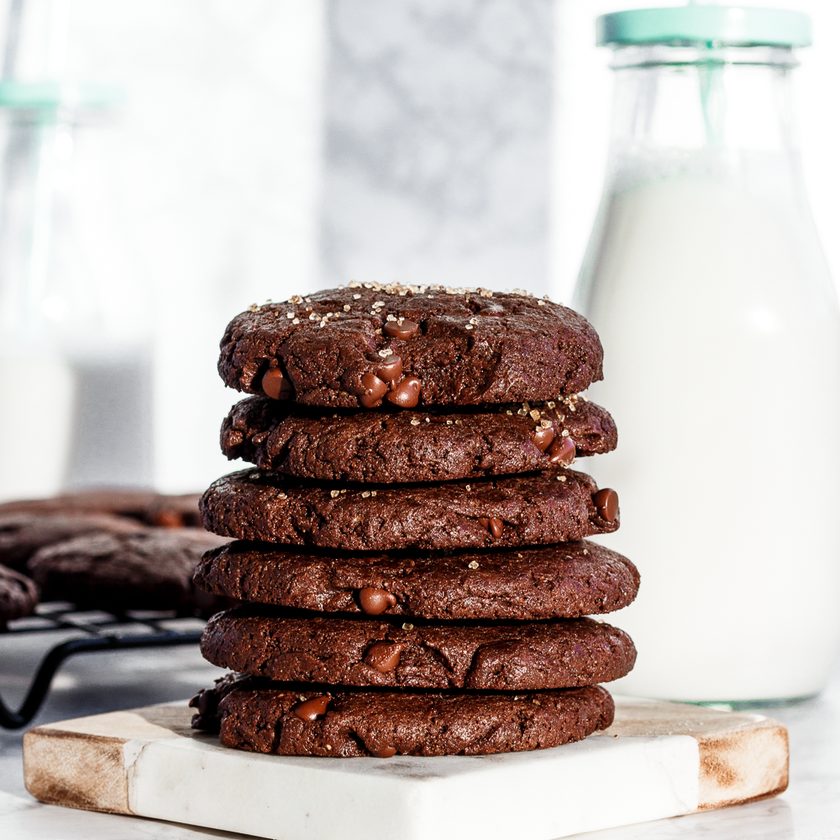 Flourless Almond Butter Double Chocolate Cookies