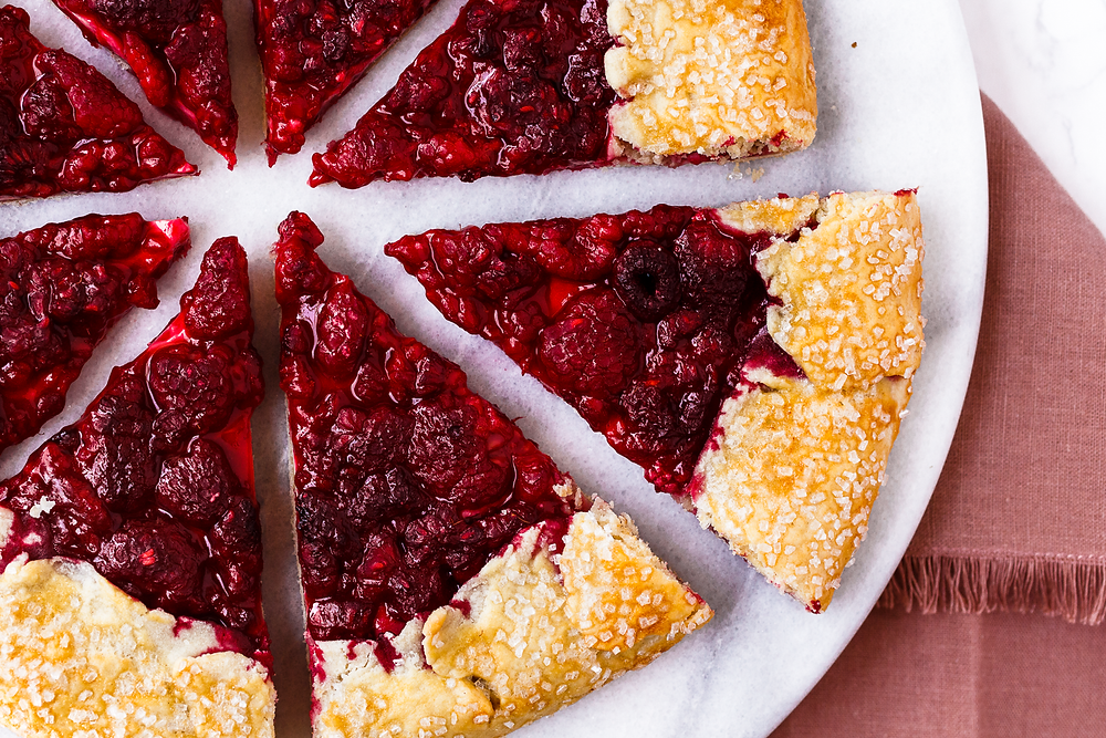 Raspberry Lemon Cream Cheese Galette