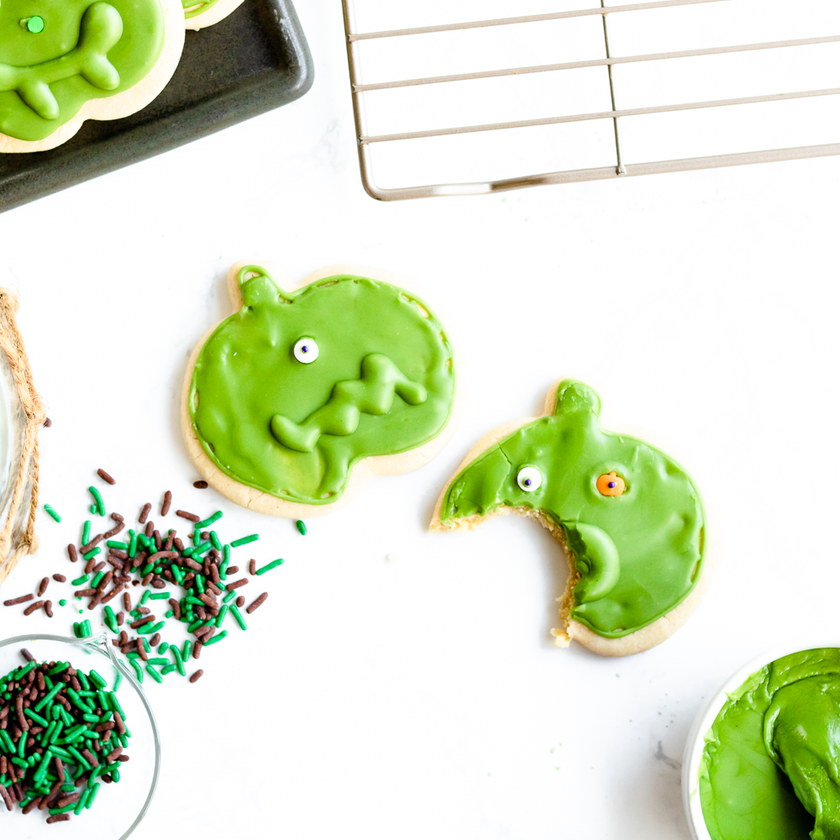 Vegan and gluten free Halloween sugar cookies