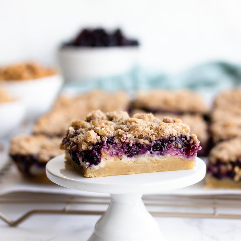 Sugar Cookie Blueberry Cheesecake Bars