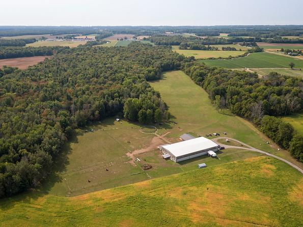 Arial view of facility at Spirit's Whisper Ranch