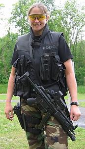 Kristi in Police gear - Spirit's Whisper Ranch