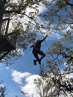 Kristi ziplining - Spirit's Whisper Ranch