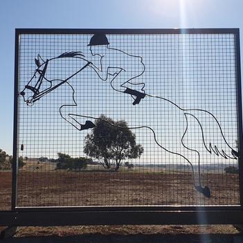 Horse sculpture screen