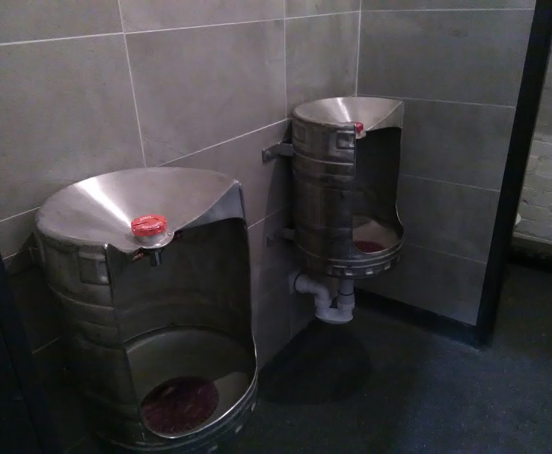 Pub themed toilets
