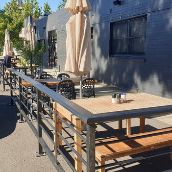 The Mikbar Outdoor Dining Barriers