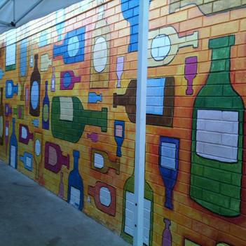 Bottles Mural