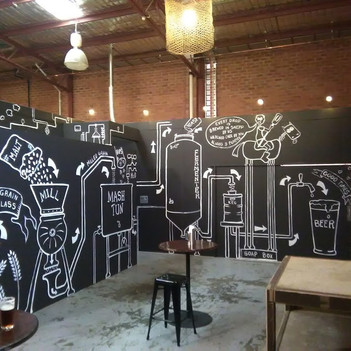 Artwork at the Shepparton Brewery