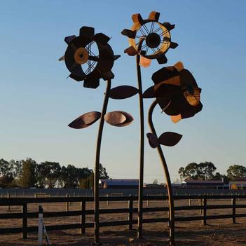 Dethridge Wheel Flower Sculptures