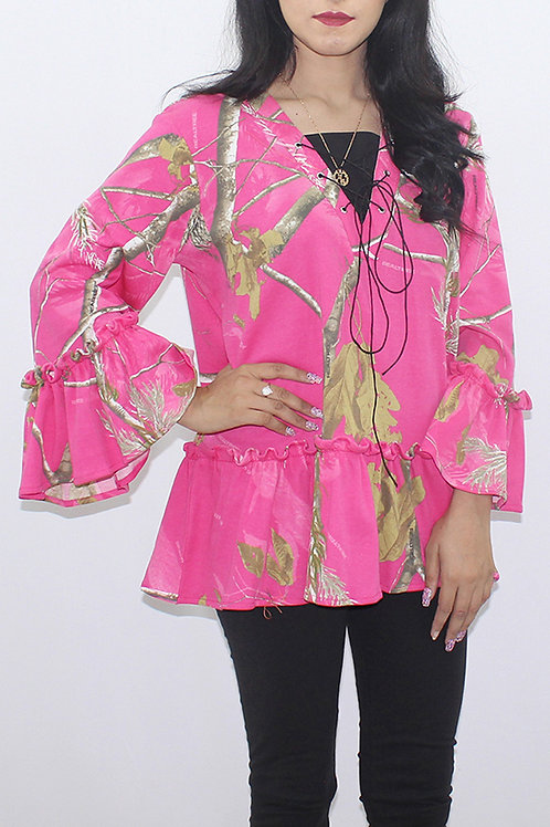 FW20WT16-21 PRINTED FRILL TOP