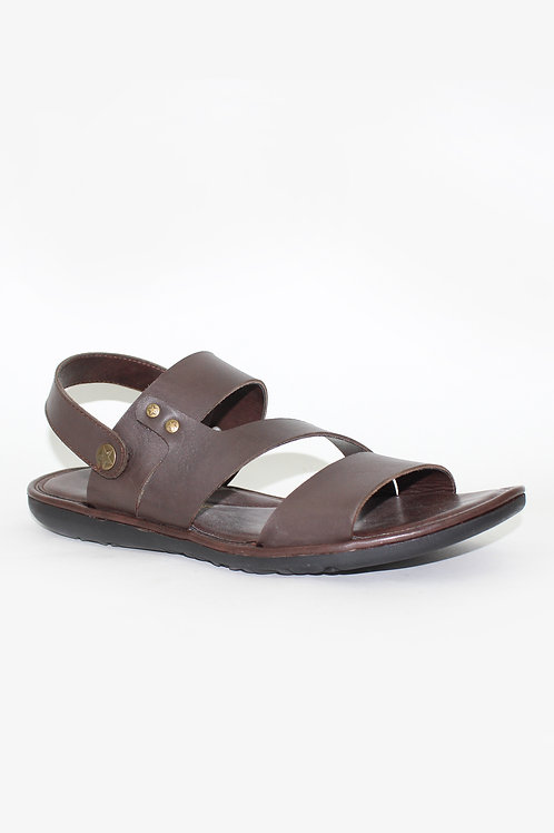 SS20HP08-10 BROWN MEN SANDAL