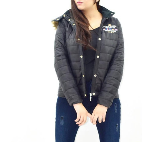 FW20WO04-01 EMB SOLID QUILTED JACKET