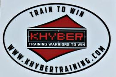 "Khyber Company ""Train to Win!""  Euro Oval Decal"