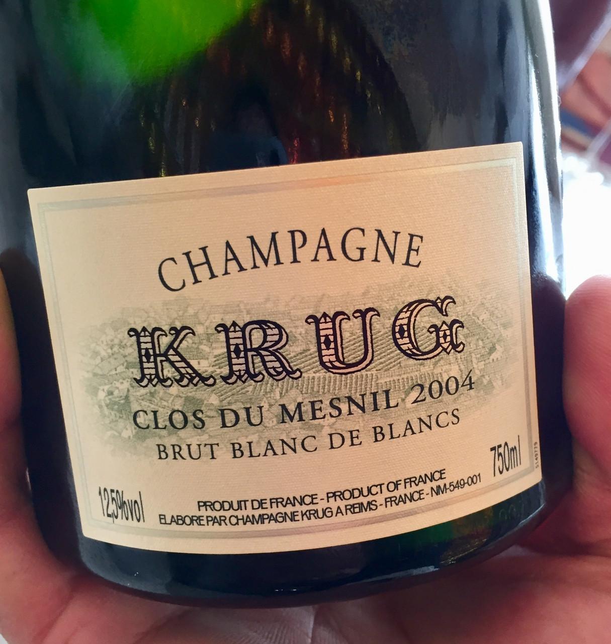 Krug Clos de Mesnil 2004 and Krug vintage 04 Champagnes