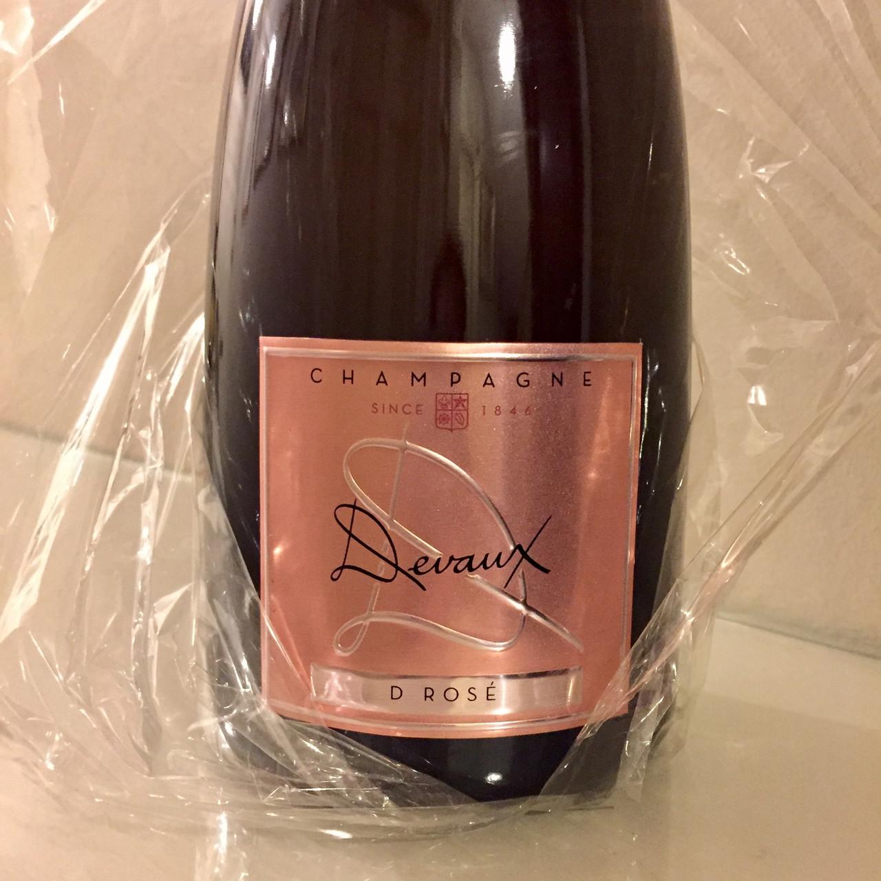 Devaux D Rosé and Moët et Chandon vintage 2009 Champagne