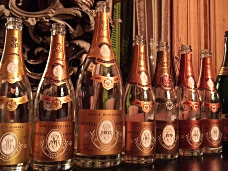 Liquid Gold: seven vintages of Cristal Champagne – drunk, not just tasted!