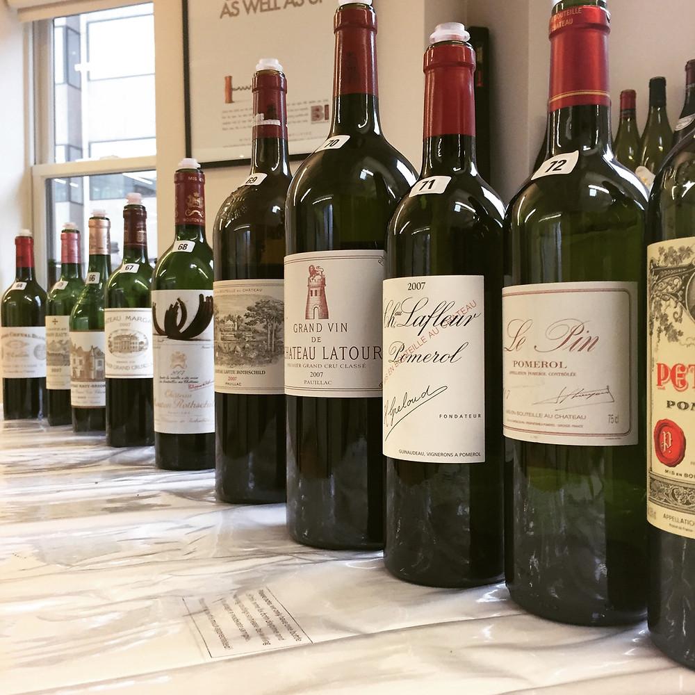Top red Bordeaux 2007