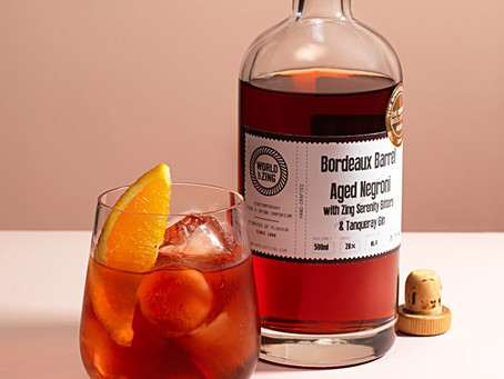 Negroni for wine lovers: aged in a Bordeaux barrel