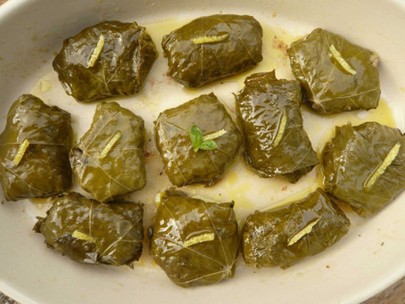 Summer Veg: Stuffed Vine Leaves