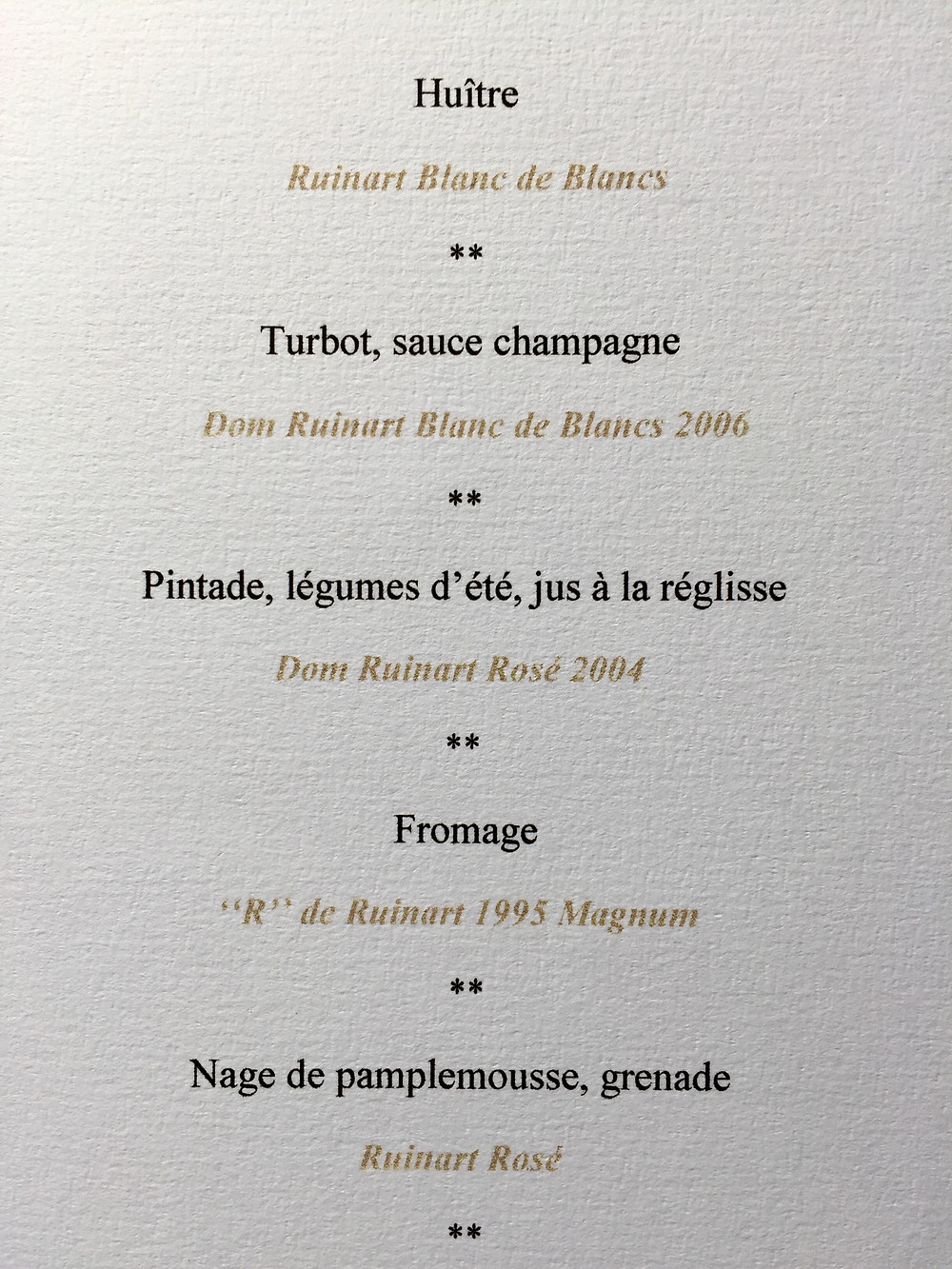 Lunch at Champagne Ruinart, Reims