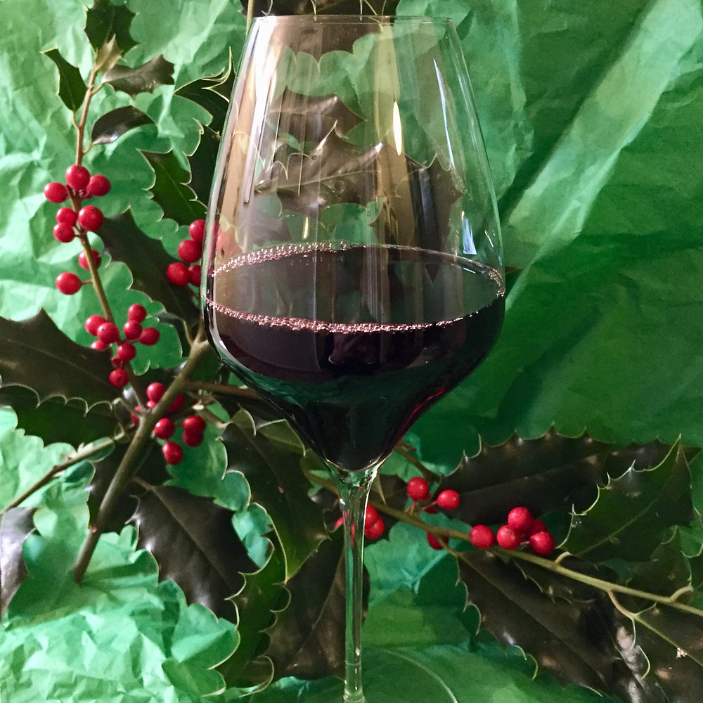 Festive red wine