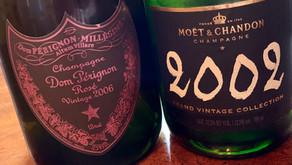 Dom Pérignon Rosé 2006 and Moët Grand Vintage Collection 2002