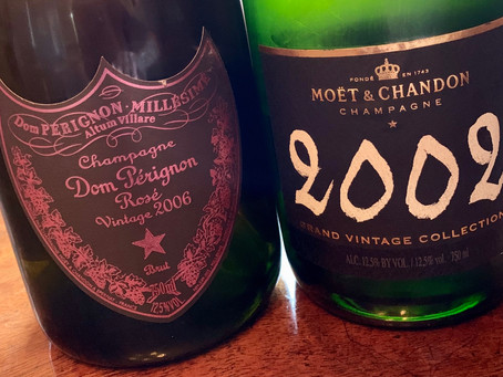 Dom Pérignon Rosé 2006 and Moët Grand Vintage Collection 2002