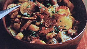 Chestnuts: Potatoes with Chestnuts, Bacon & Mushrooms