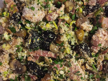 Chestnuts: Chestnut, Prune and Sausage Stuffing