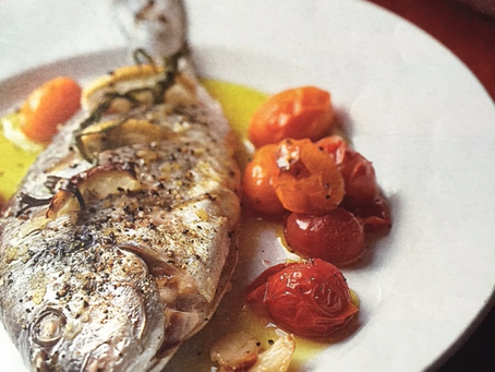 Tomatoes: Baked Sea Bream with Tarragon and Tomatoes