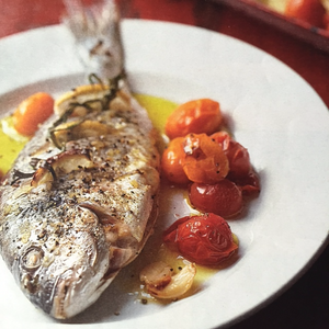 Sea Bream with Tarragon & Tomatoes