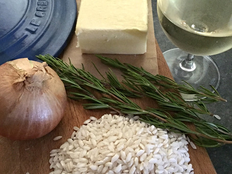 Herbs: Risotto with rosemary and parsley